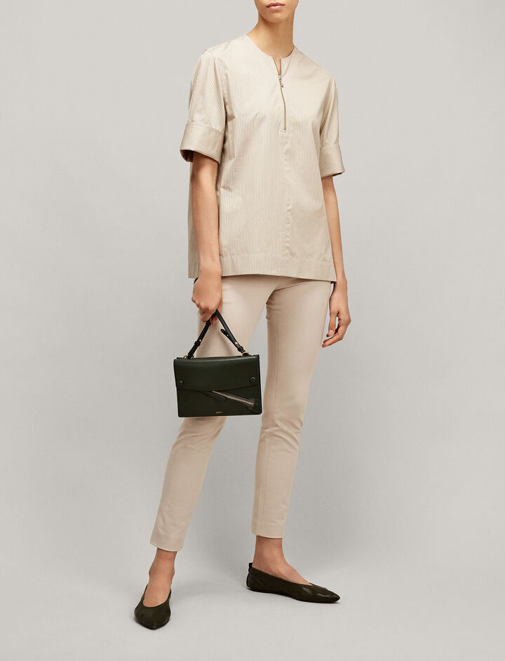 Joseph, New Eliston Gabardine Stretch Trousers, in BLUSH
