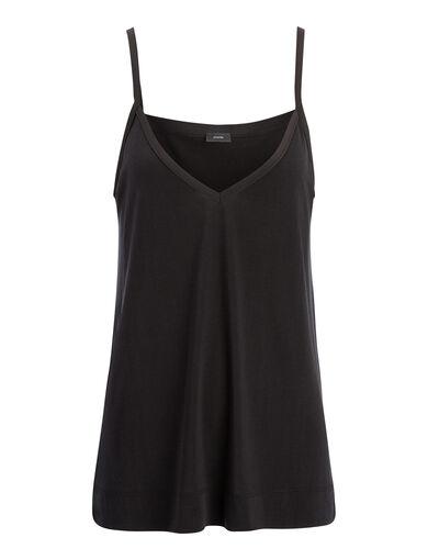 Silk Jersey Camisole, in BLACK, large | on Joseph
