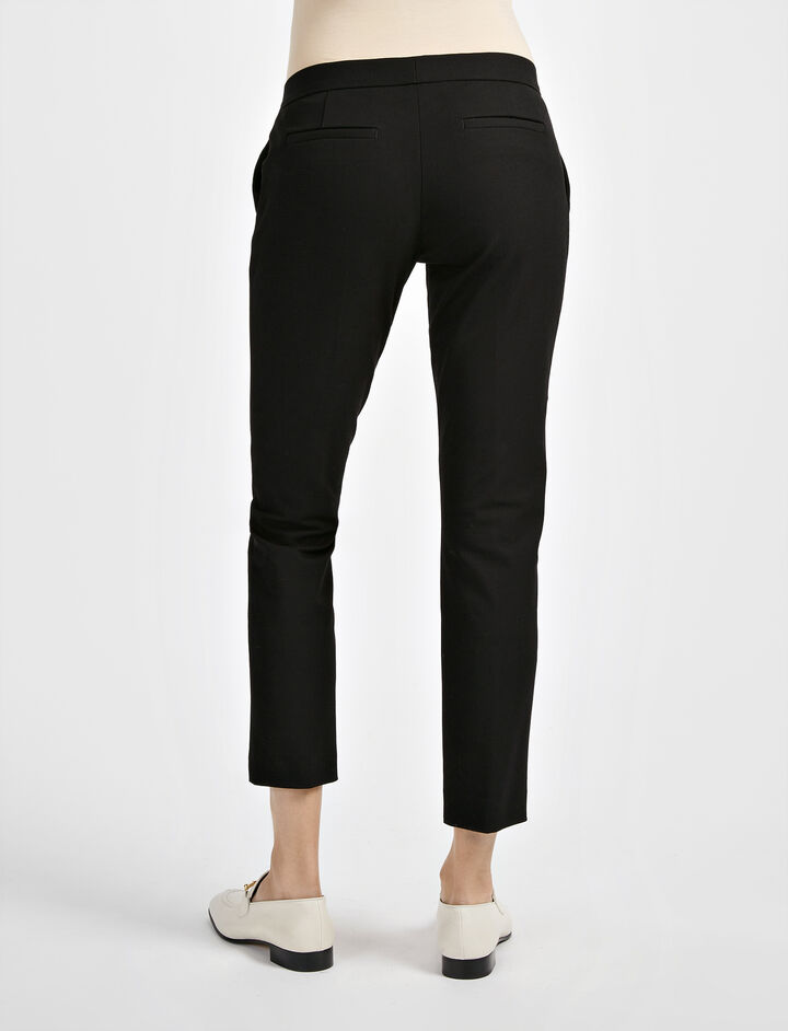 Gabardine Stretch Finley Trouser, in BLACK, large | on Joseph