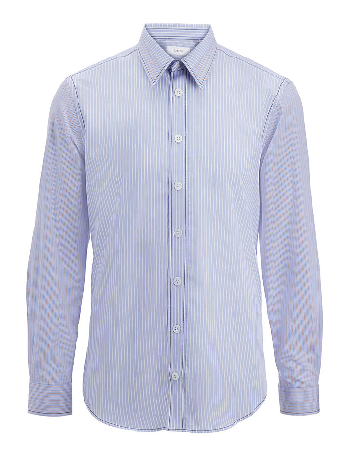 Joseph, Blue Stripes Moriston Shirt, in MULTICOLOUR