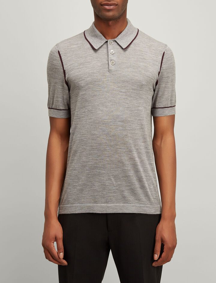 Joseph, Light Merinos Polo, in GREY CHINE