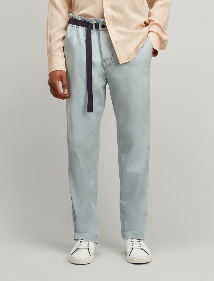 Twill Chino Luis Trousers, in ETON, large | on Joseph