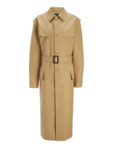 Manteau Mag en whipcord, in CAMEL, large | on Joseph