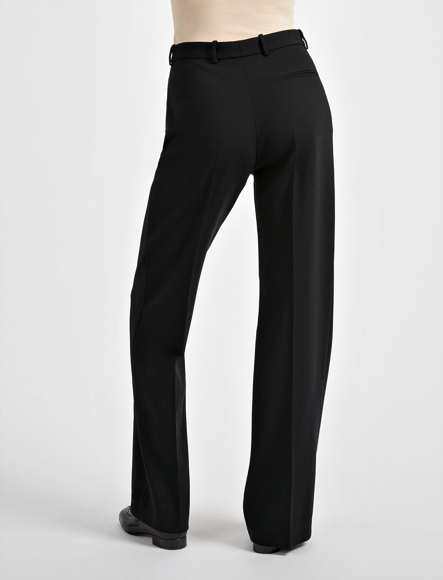 Joseph, Stretch Wool Ferguson Trouser, in BLACK