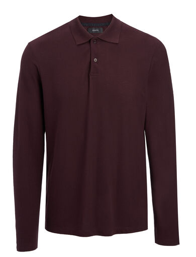Ice Jersey Polo, in BURGUNDY, large | on Joseph