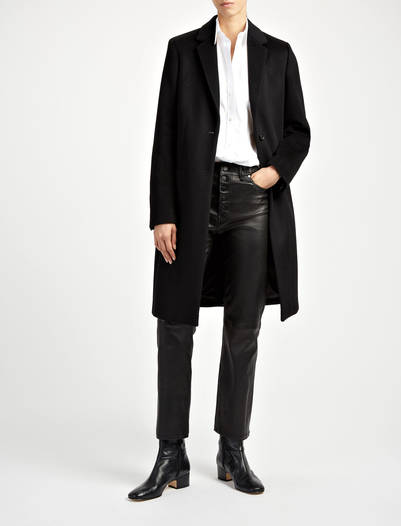 Joseph, New Wool Martin Coat, in BLACK