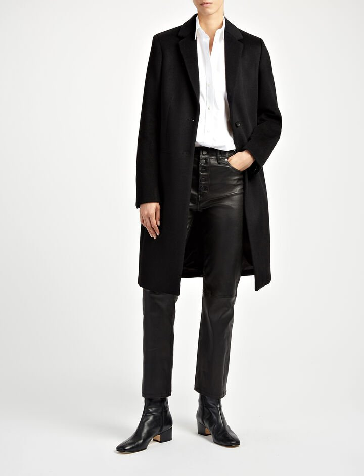 Joseph, New Wool Coat Martin Coat, in BLACK