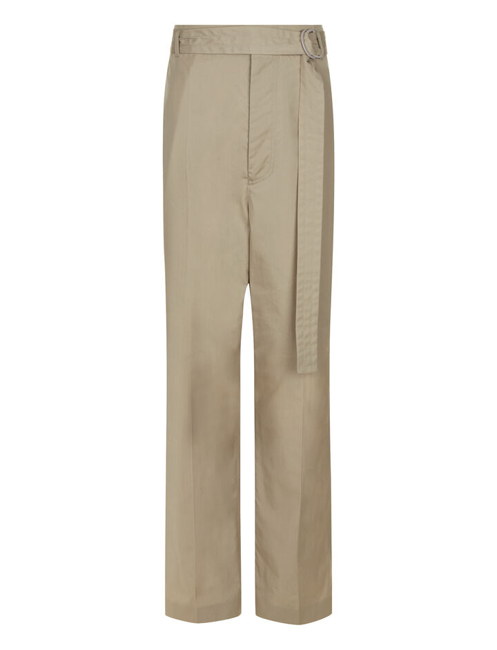 Joseph, Bird High Twist Cotton Trousers, in CEMENT
