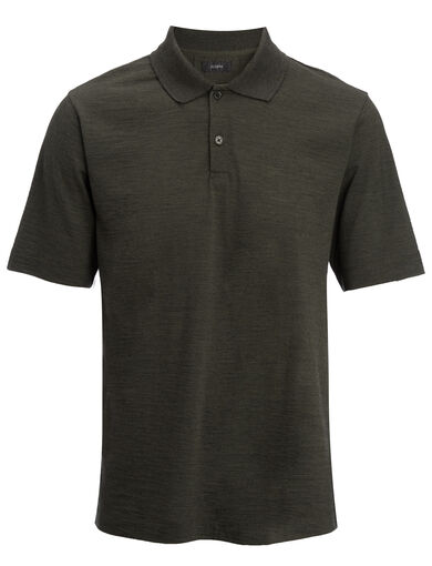 Wool Jersey Polo, in MOSS, large | on Joseph