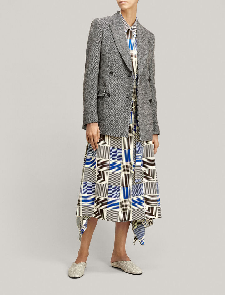 Joseph, Moore Mini Check Jacket, in BLACK