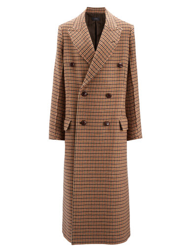 Dog Tooth Coat Arlon Coat, in OCHRE, large | on Joseph