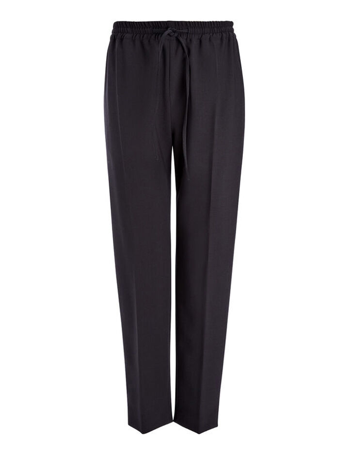 Stretch Wool Louna Trouser, in NAVY, large | on Joseph
