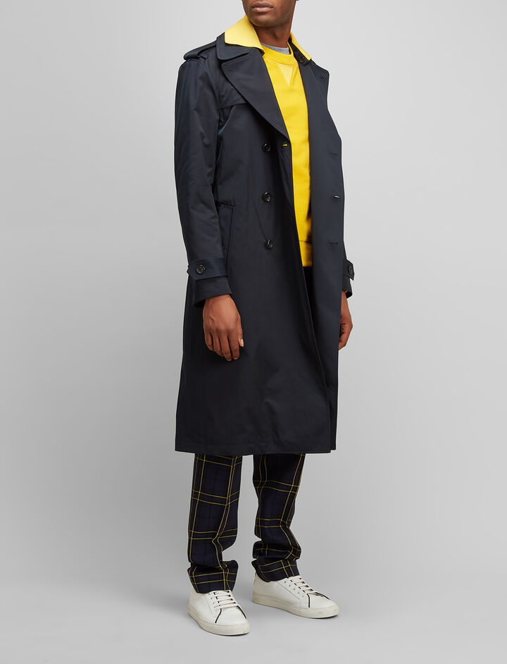 Nylon Diego Parka, in NAVY, large | on Joseph