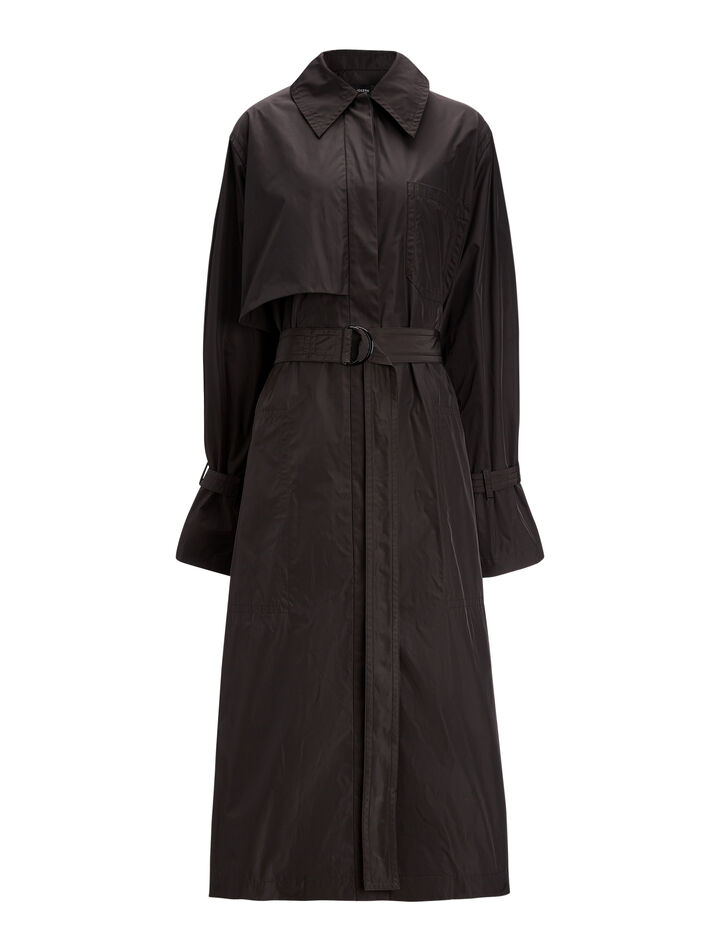 Joseph, Dublin Tafetta Nylon Coat, in BLACK