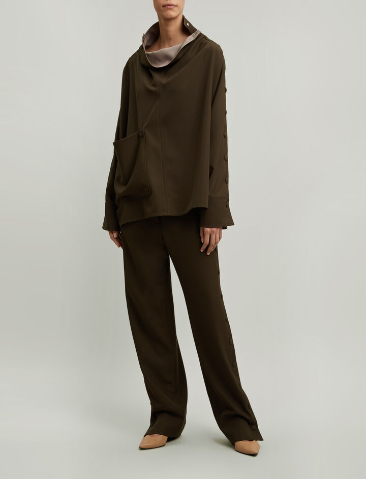 Joseph, Odon Fluid Wool Trousers, in FATIGUE