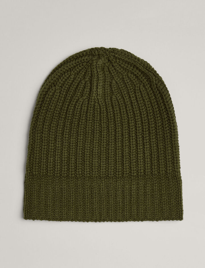 Joseph, Soft Wool Beanie, in MILITARY