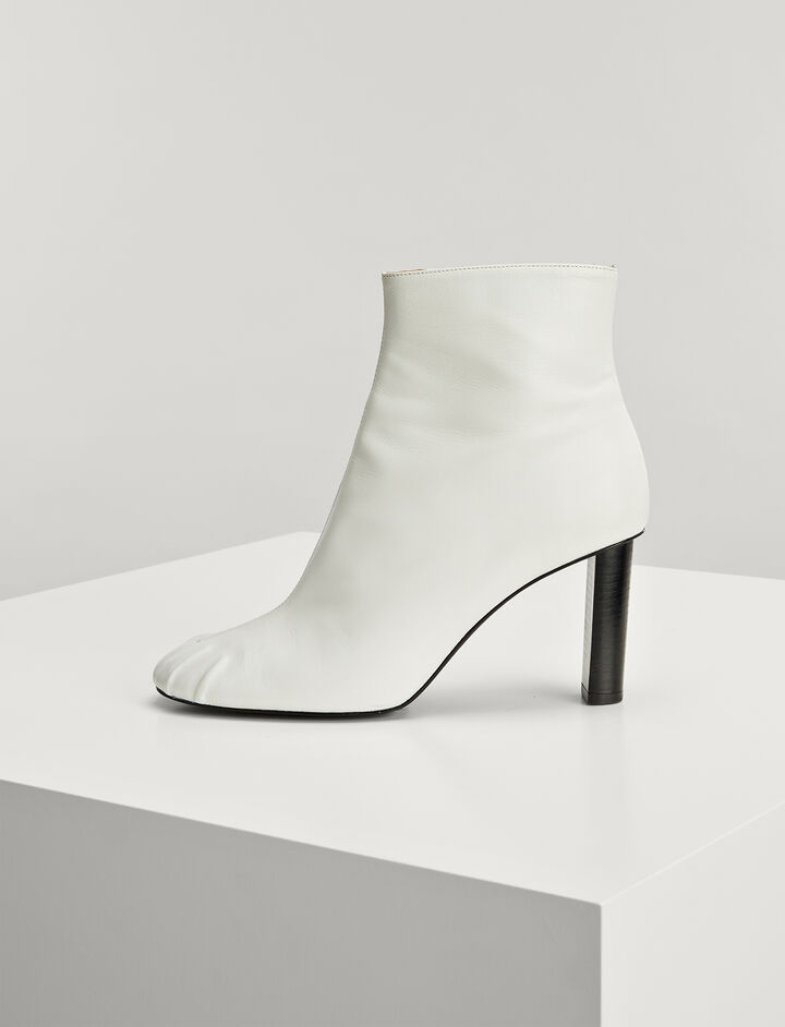 Bottines Pigalle en cuir nappa, in WHITE, large | on Joseph