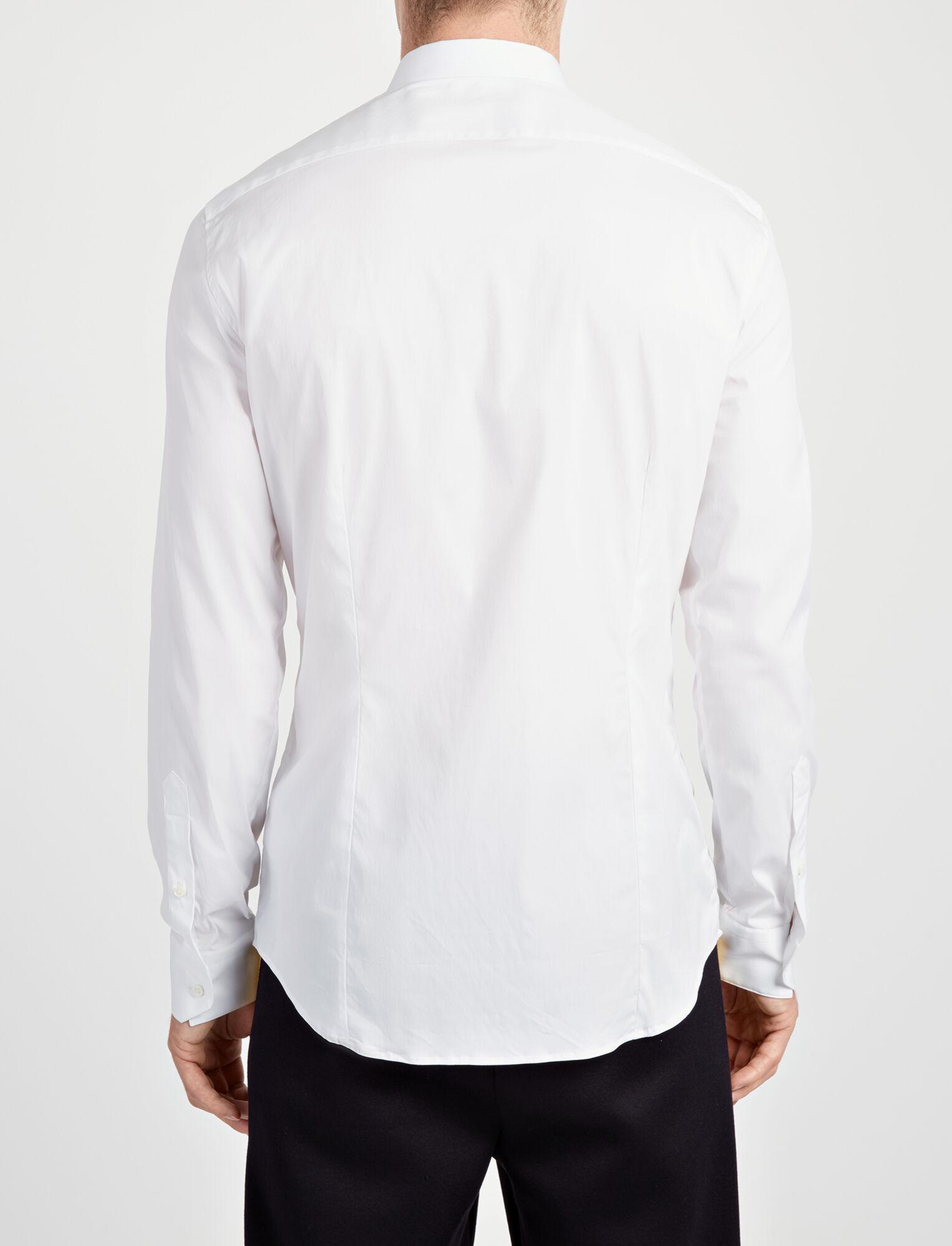 Poplin + Poplin Stretch Cecile Shirt, in WHITE, large | on Joseph