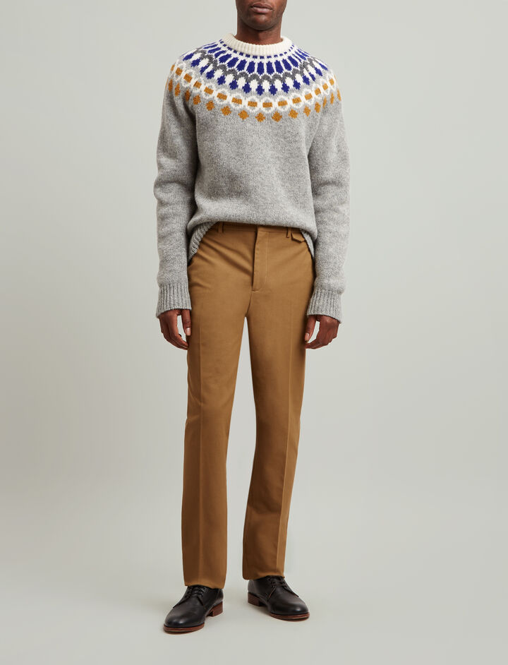 Joseph, Emmanuel Gabardine Stretch Trousers, in CAMEL