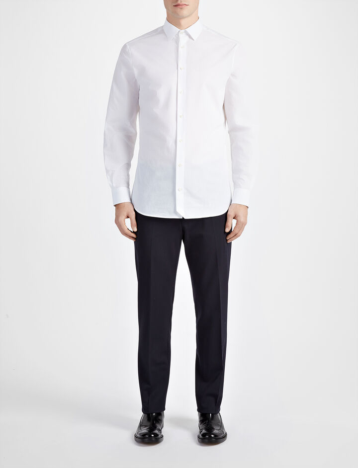 Parachute Poplin John Shirt, in WHITE, large | on Joseph
