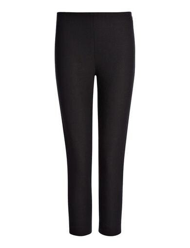 Gabardine Stretch New Tony Cropped Trouser, in BLACK, large | on Joseph