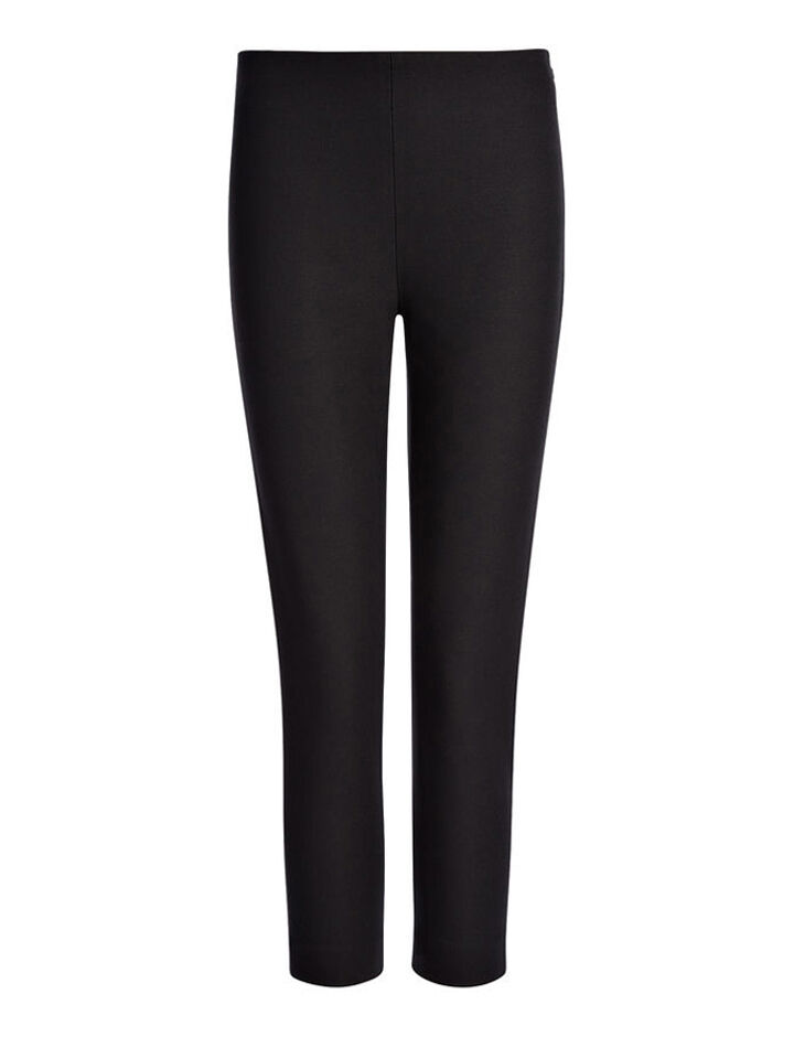 Gabardine Stretch New Tony Cropped Trouser, in BLACK, large | on Joseph