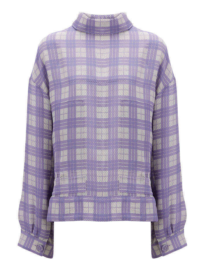 Joseph, Canvas Check Royce Jacket, in PERIWINKLE