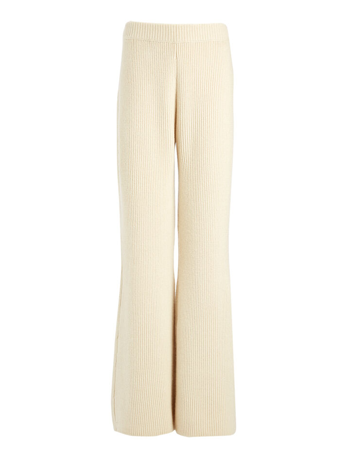 Cashmere Luxe Trousers, in ECRU, large | on Joseph