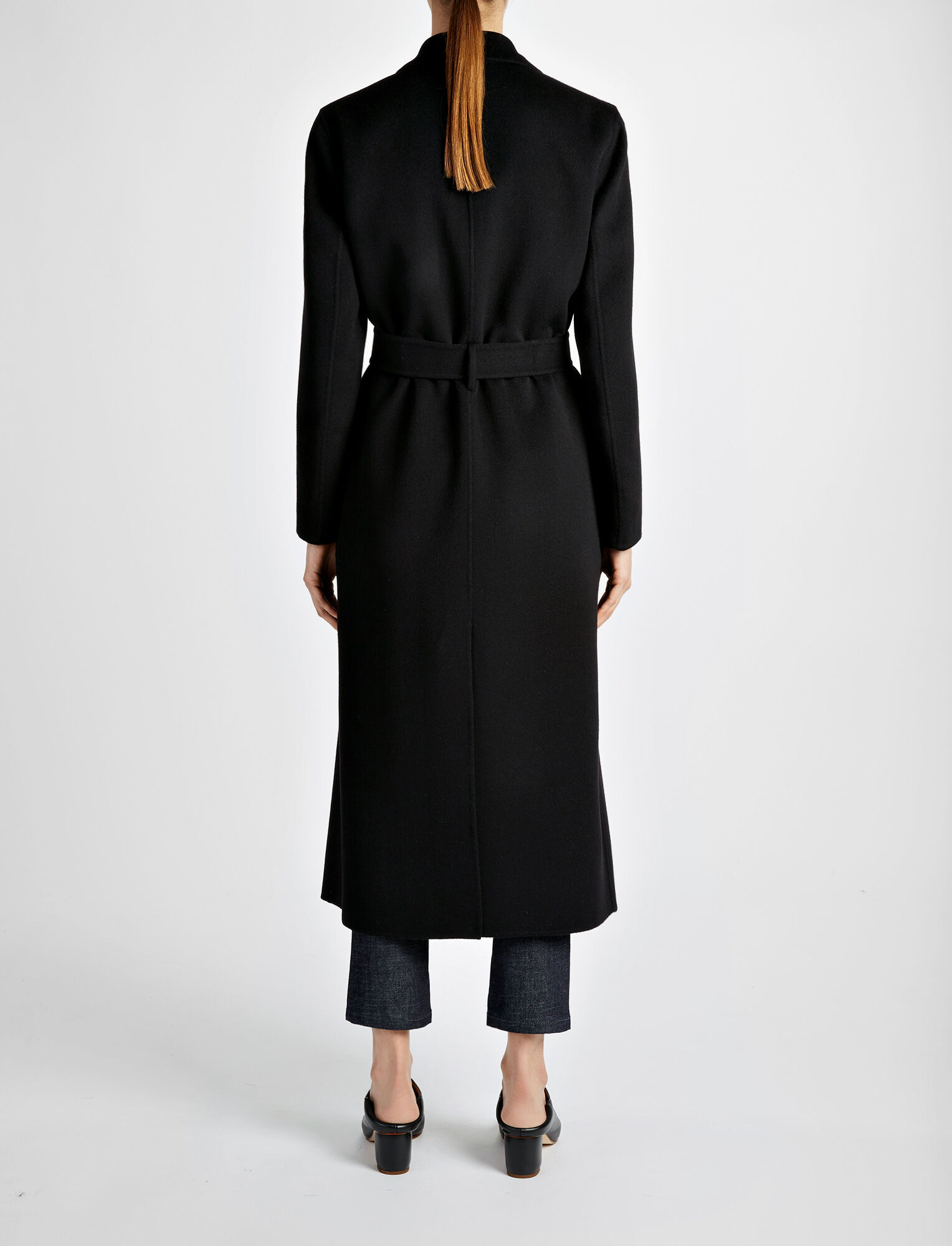 Joseph, Light Double Cashmere Kido Coat, in BLACK