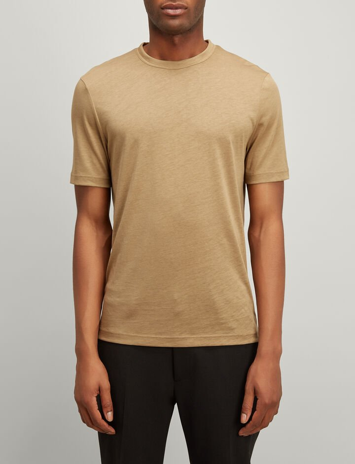 Lyocell Jersey Tee, in TAWNY, large | on Joseph
