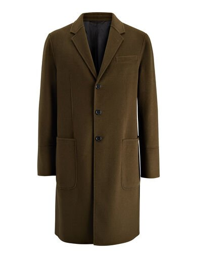Manteau Bentley en laine double, in DARK KHAKI, large | on Joseph