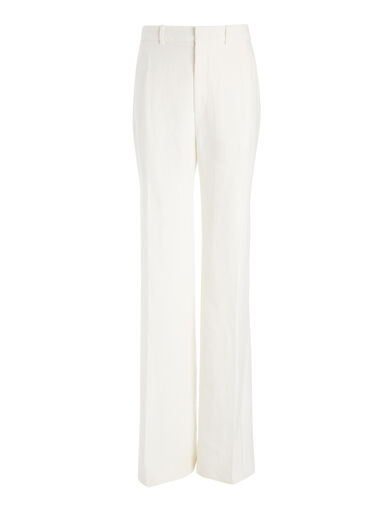 Pantalon Ferguson en twill de lin, in OFF WHITE, large | on Joseph