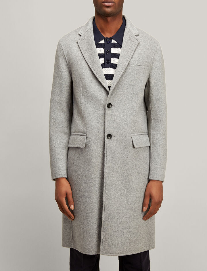 Joseph, Double Wool Clark Coat, in GREY CHINE