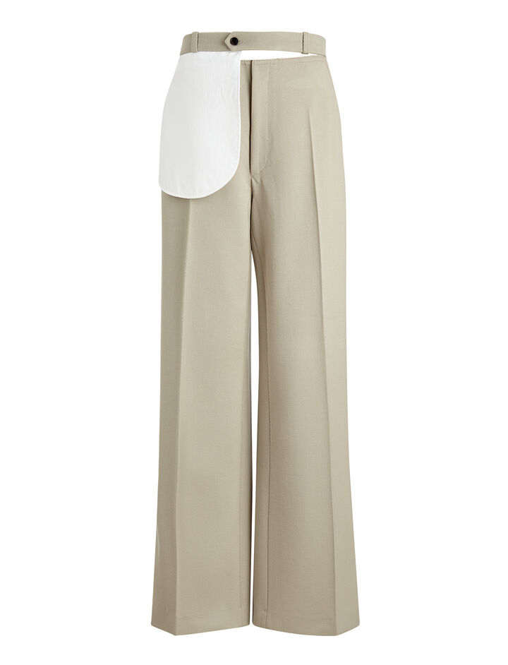 Cavalry Twill Alta Trousers, in STONE, large | on Joseph