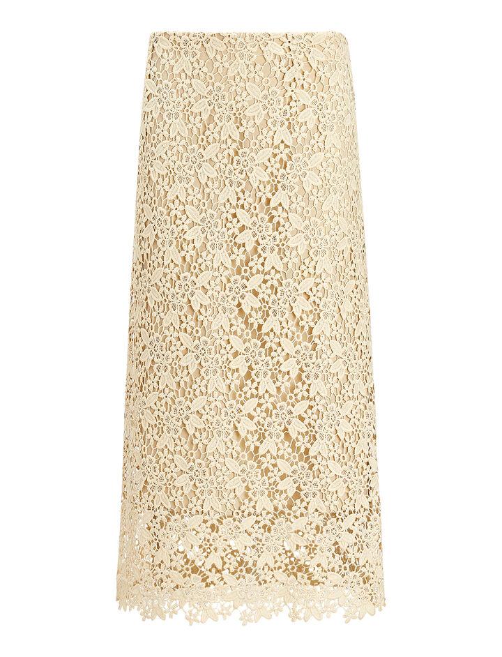 Joseph, Wini Crochet Lace Skirt, in BUTTER
