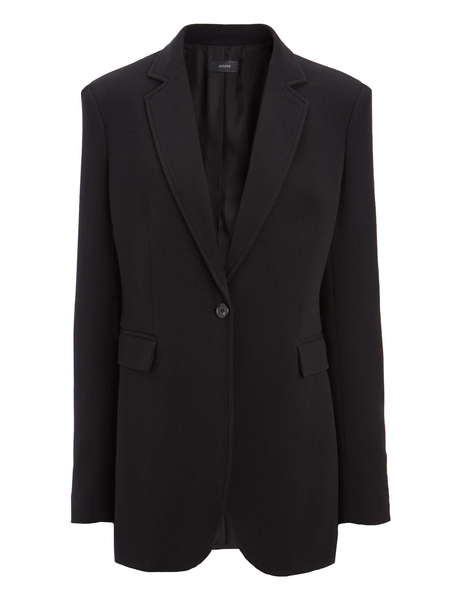 Viscose Cady Laurent Jacket, in BLACK, large   on Joseph