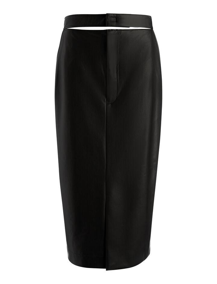 Feather Sky Keller Skirt, in BLACK, large | on Joseph