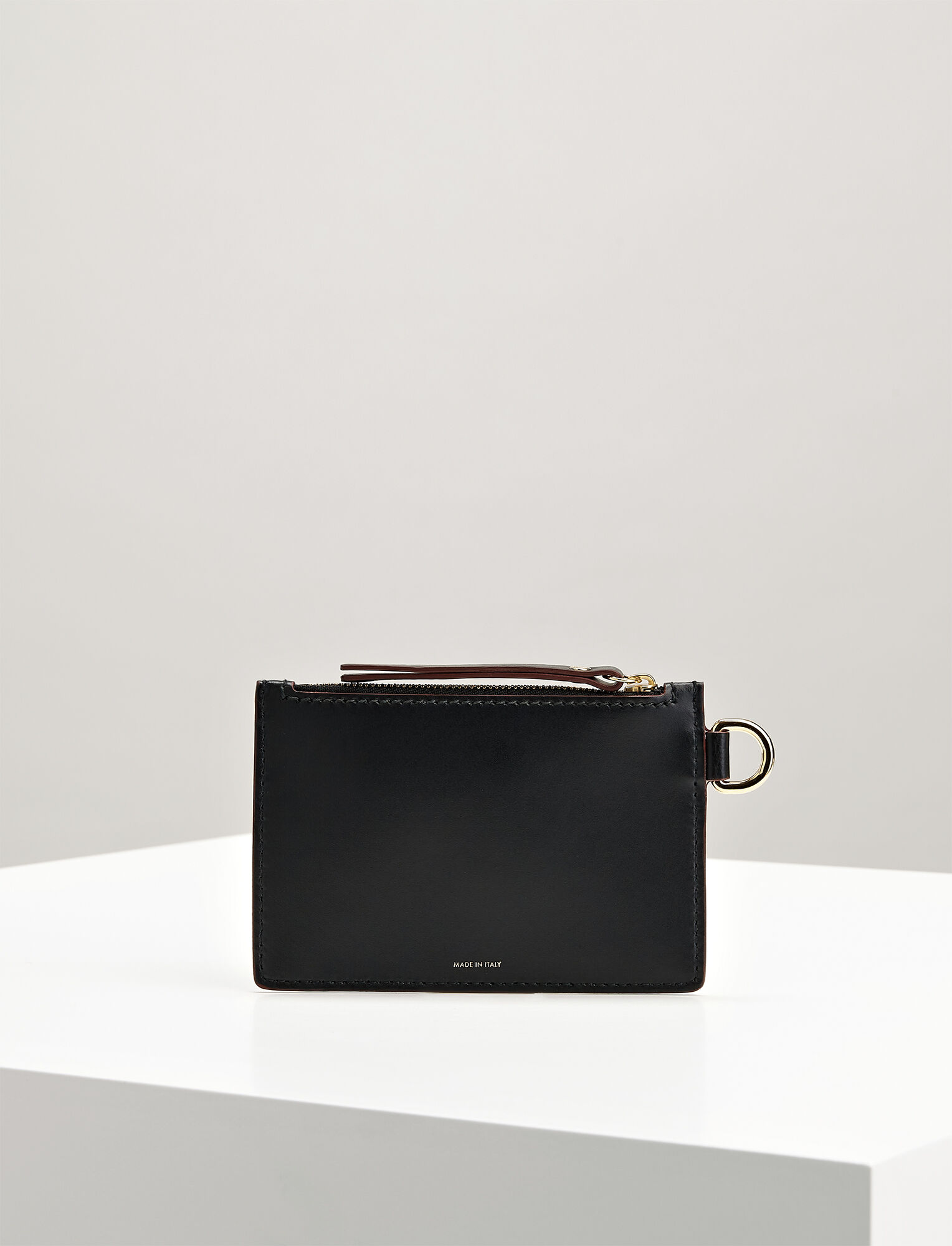 Calf Leather Coin Purse, in BLACK, large | on Joseph