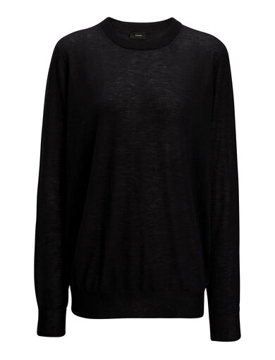 Cashair Sweater, in BLACK, large | on Joseph