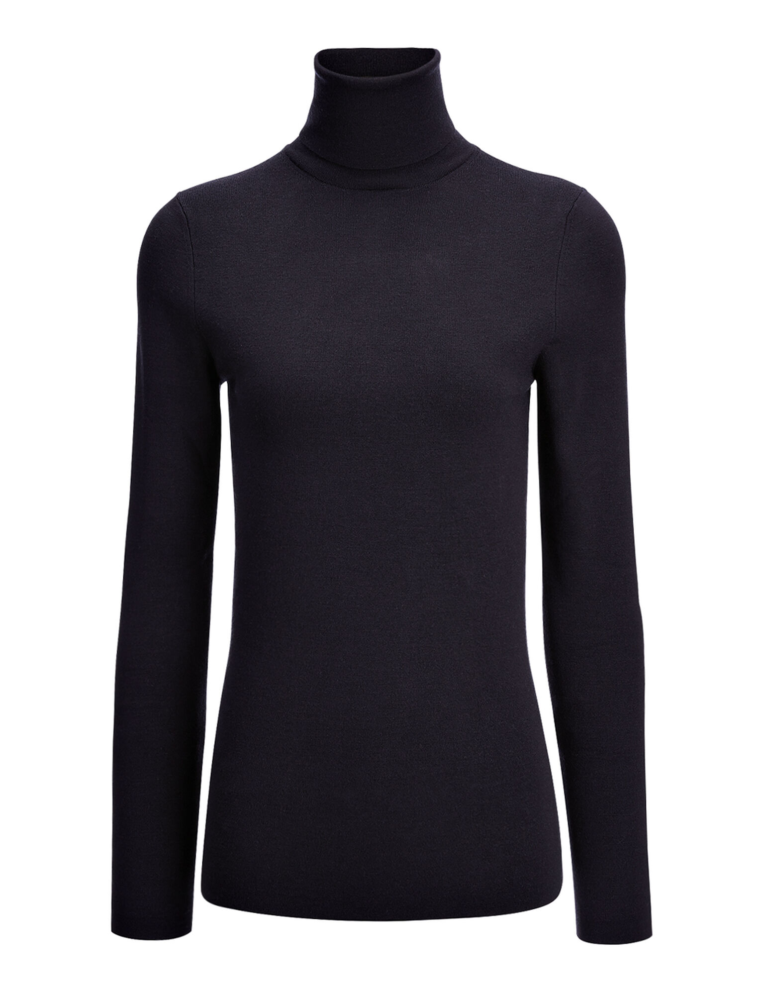 Joseph, Silk Stretch Roll Neck, in NAVY