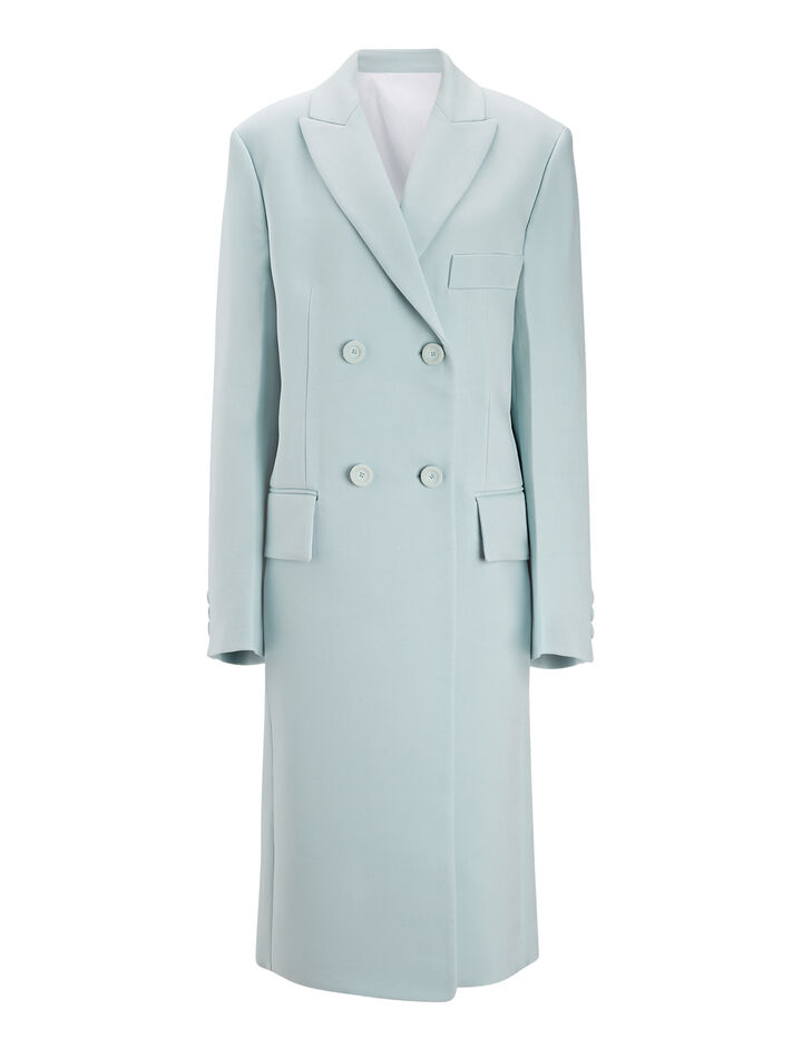Joseph, Chintz Suiting Bianco Coat, in CELADON