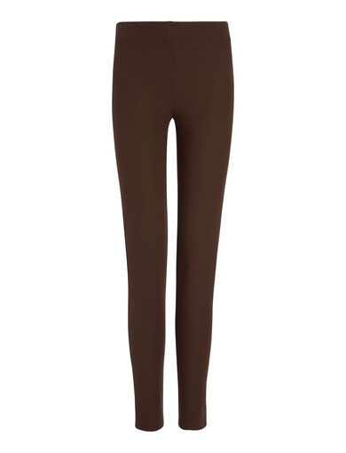 Gabardine Stretch Leggings, in RUST, large | on Joseph