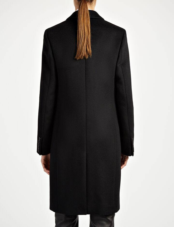 New Wool Martin Coat, in BLACK, large | on Joseph