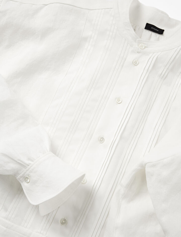 Vintage Linen Maine Blouse, in WHITE, large | on Joseph