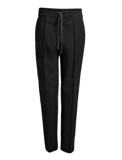 Gabardine Stretch Base Tuxedo Trousers, in BLACK/WHITE, large | on Joseph