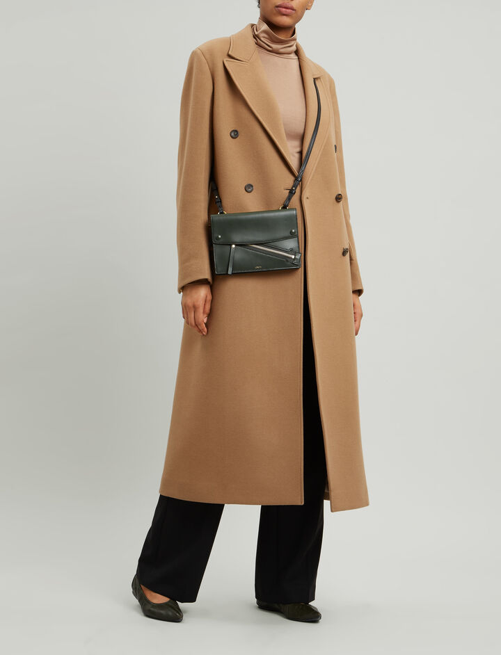 Joseph, New Arlon Cashfelt Coat, in DARK CAMEL