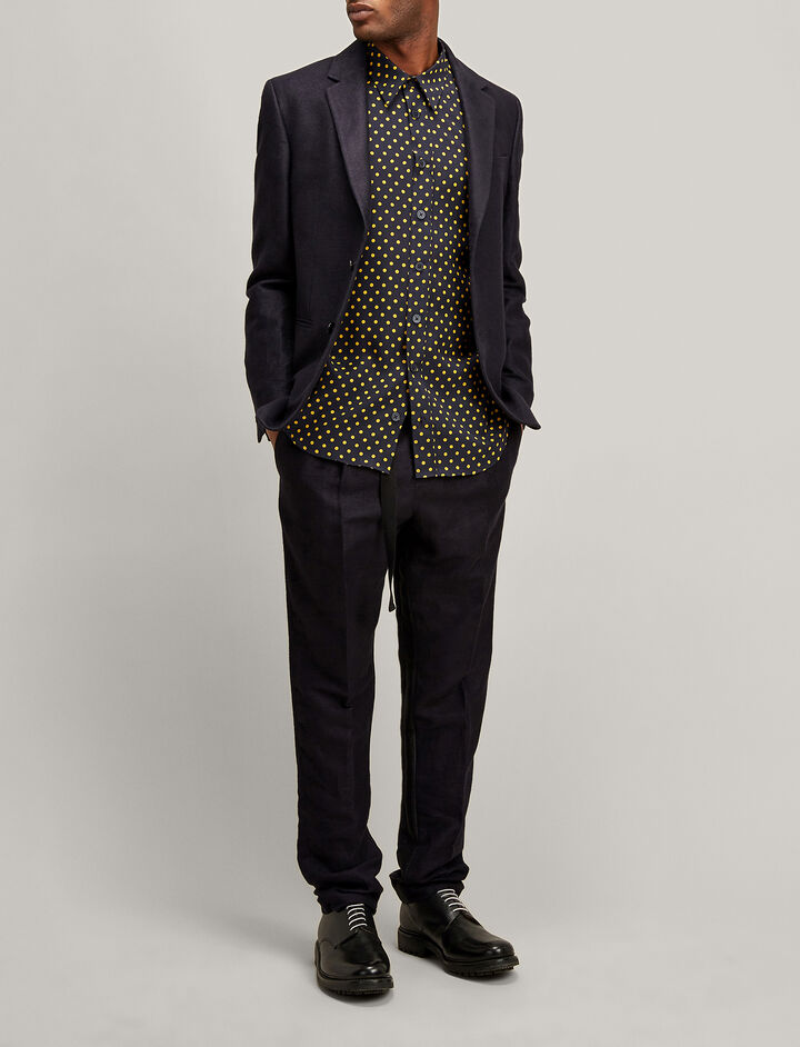 Joseph, Brushed Twill Hawthorne Jacket, in NAVY
