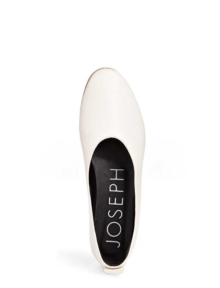 Calf Leather Ballerina, in WHITE, large | on Joseph