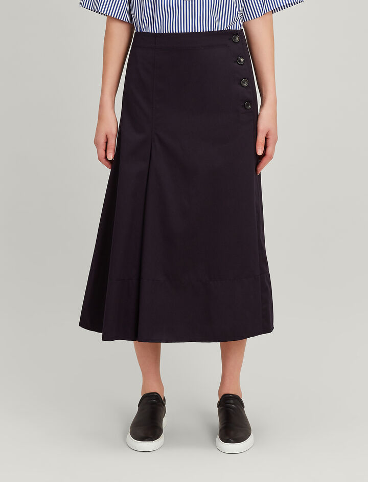 Twill Chio Smith Skirt, in NAVY, large | on Joseph
