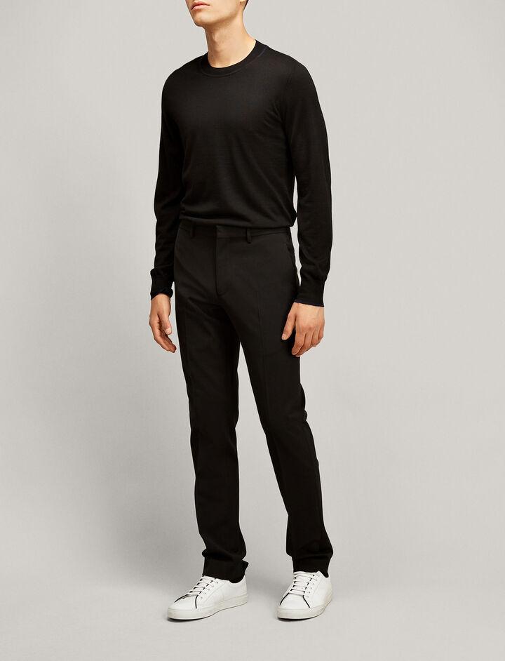 Joseph, Light Merinos Knit, in BLACK